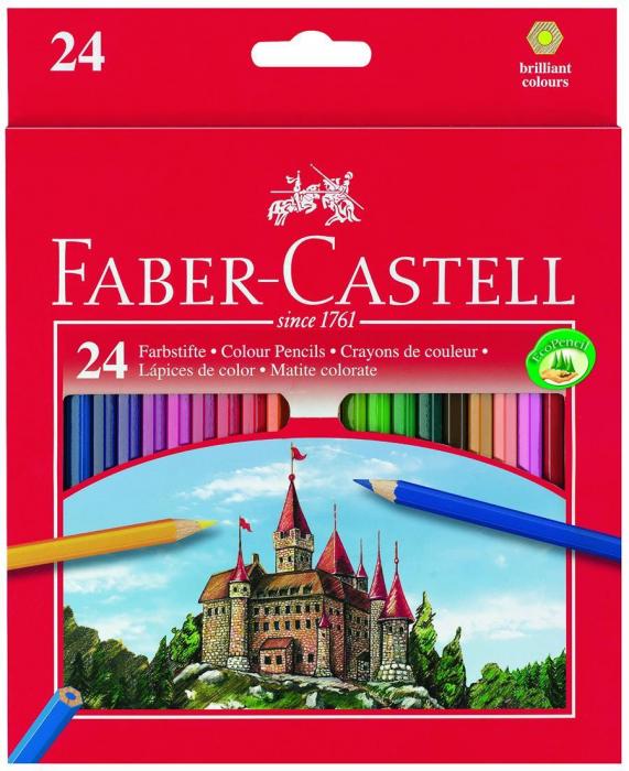 Creioane Colorate Eco 24 culori / cutie carton Faber-Castell [0]