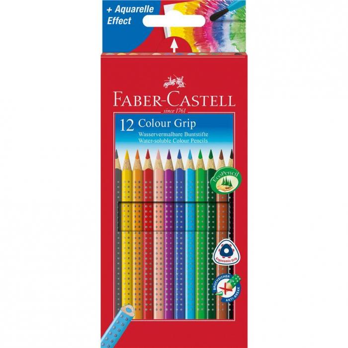 Creioane Colorate Grip 2001 12 culori Faber-Castell 0