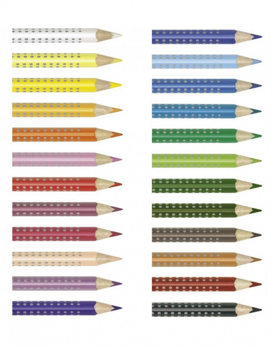 Creioane Colorate Grip 2001 24 culori Faber-Castell 2