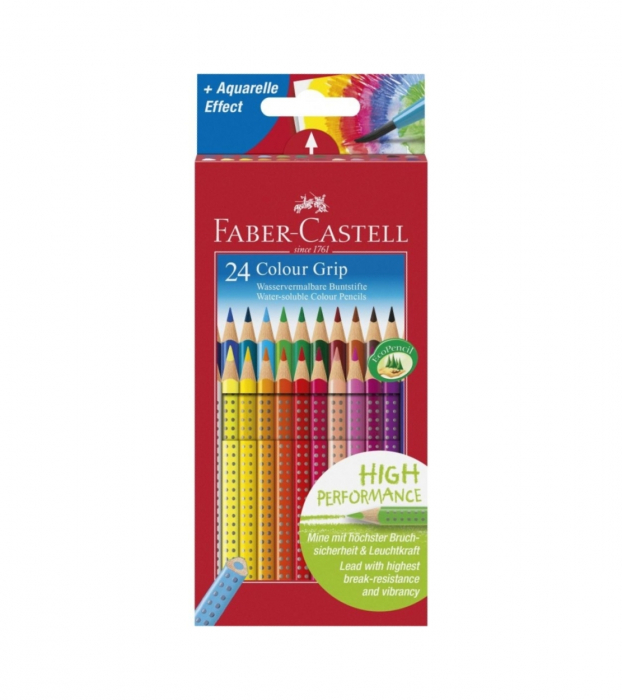 Creioane Colorate Grip 2001 24 culori Faber-Castell [4]