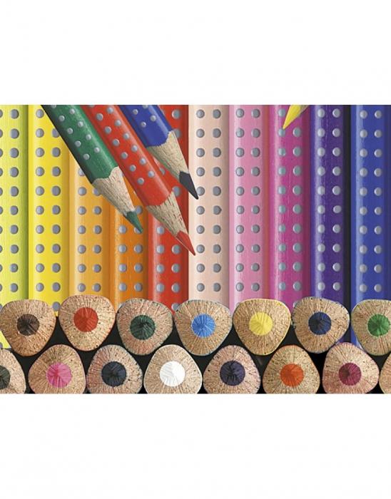 Creioane Colorate Grip 2001 24 culori Faber-Castell 3