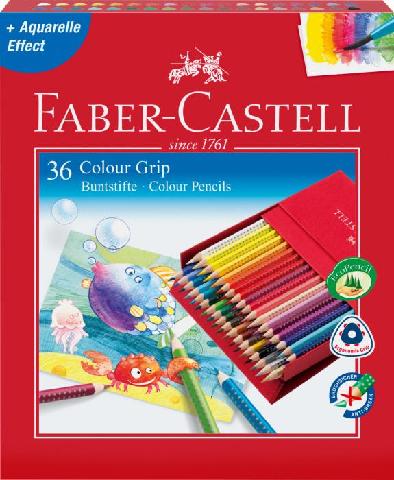 Creioane Colorate Grip 2001 36 Culori Cutie Cadou Faber-Castell 1
