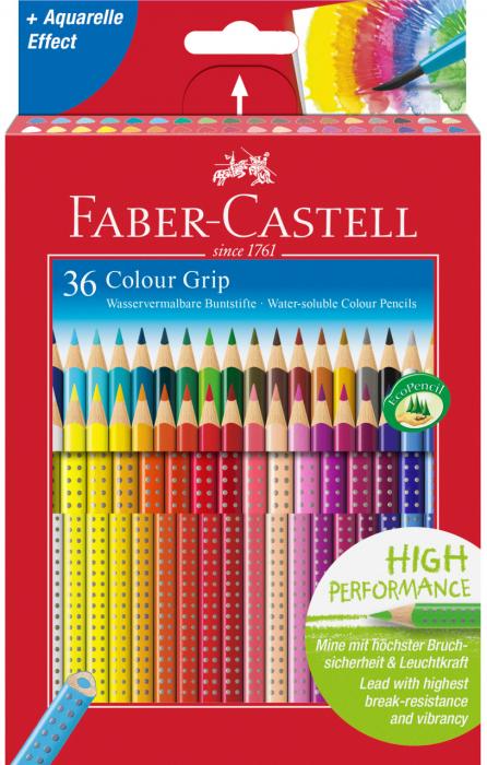 Creioane Colorate Grip 2001 36 culori Faber-Castell 0
