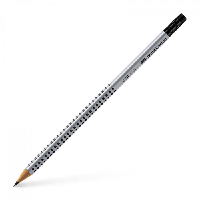 Creion Grafit Cu Guma Grip 2001 Faber-Castell 0