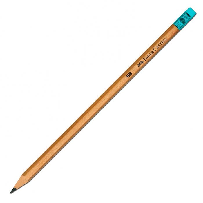 Creion Grafit HB cu Guma Natur Faber-Castell 3