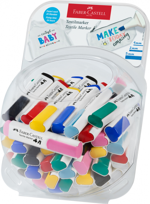 Display Markere Textile 50 buc Faber-Castell 0