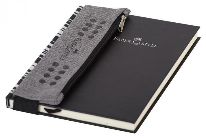 Etui Instrumente de Scris Grip Melange Gri Faber-Castell 1