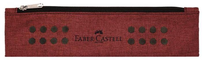 Etui Instrumente de Scris Grip Melange Rosu Marsala Faber-Castell [0]