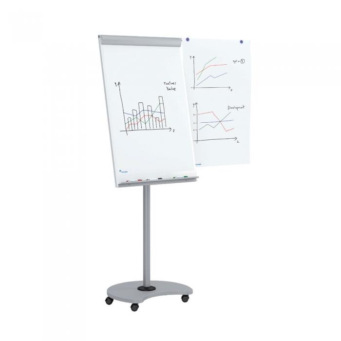 Flipchart Multifunctional mobil 360° magnetic, reglabil pe inaltime, Rocada 2
