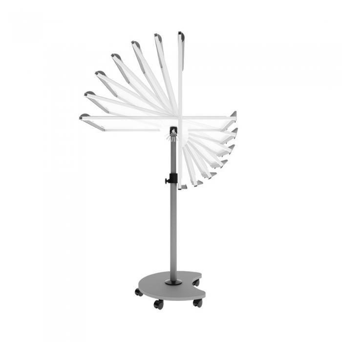 Flipchart Multifunctional mobil 360° magnetic, reglabil pe inaltime, Rocada 0