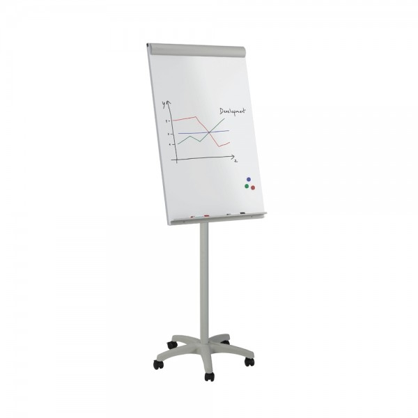 Flipchart mobil magnetic cu baza din plastic Rocada 0