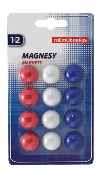 Magneti Whiteboard 20 mm rotunzi set 12 buc Memoboards 0