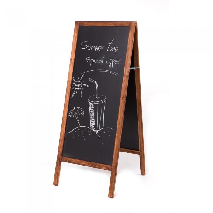 """Panou de informare de podea, """"A-Board"""", pentru scris cu creta, Rocada 0"""