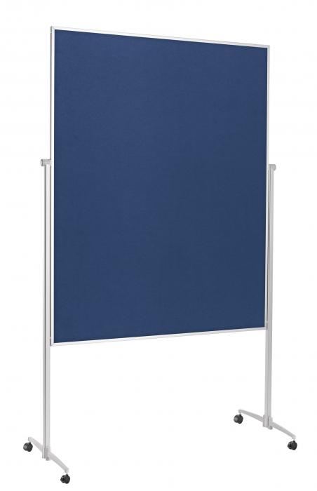 Panou Prezentare Mobil Textil Albastru 1200x1500mm MAGNETOPLAN 0