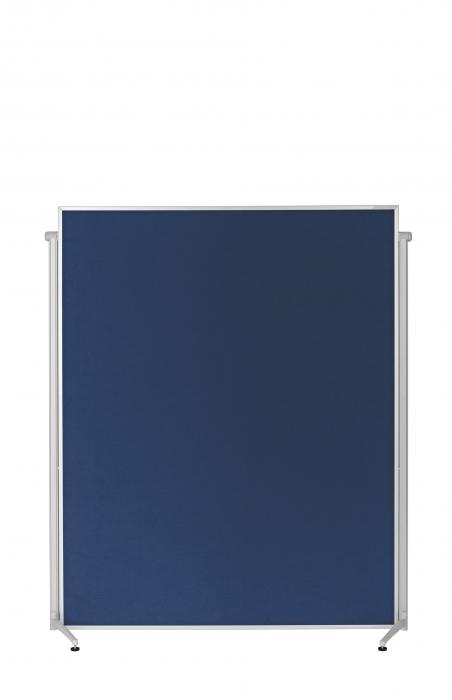 Panou Prezentare Mobil Textil Albastru 1200x1500mm MAGNETOPLAN 2