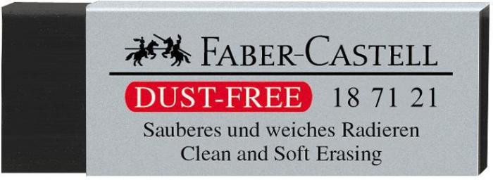 Radiera Creion 7121 Dust Free Neagra 63x22x12mm Faber-Castell [0]