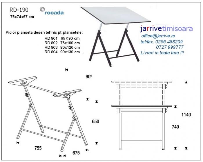 RD190 Picior Planseta Desen Tehnic Rocada 1