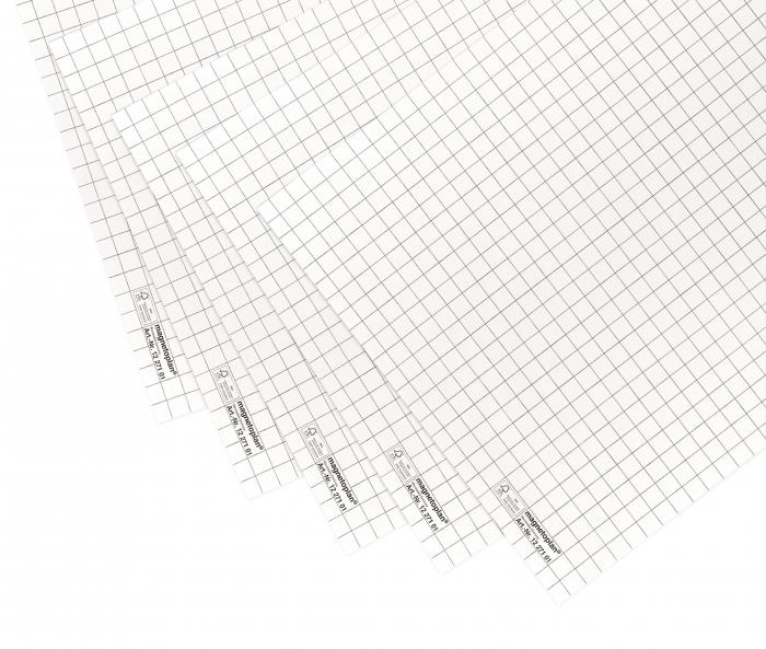 Rezerva hartie flipchart, 20 coli, caroiaj, dimensiune 65 x 93 cm MAGNETOPLAN 0