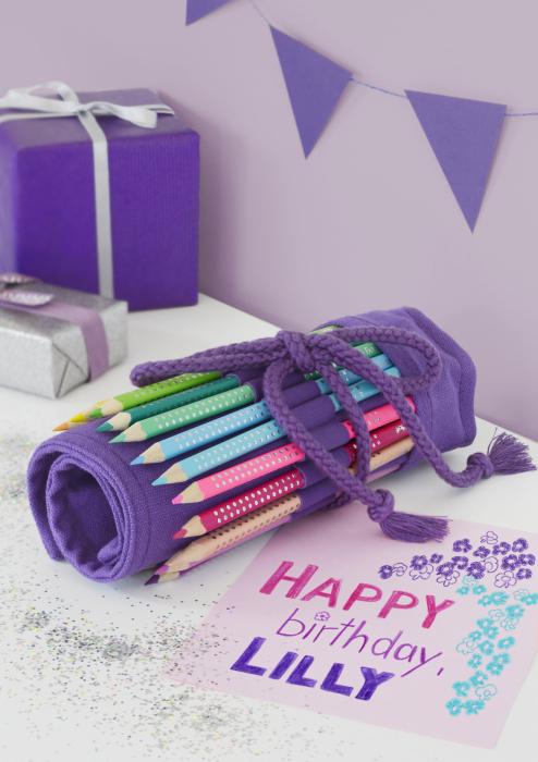 Rollup 20 creioane colorate Sparkle +1 Creion Sparkle + accesorii Faber-Castell 4