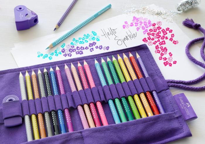 Rollup 20 creioane colorate Sparkle +1 Creion Sparkle + accesorii Faber-Castell 3