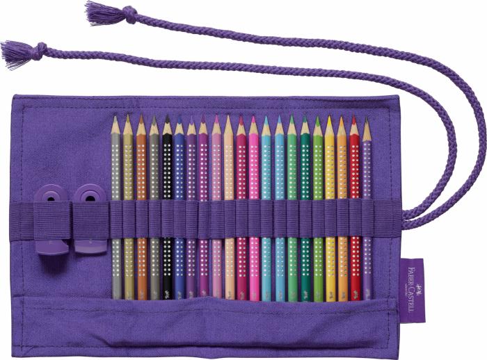 Rollup 20 creioane colorate Sparkle +1 Creion Sparkle + accesorii Faber-Castell 1