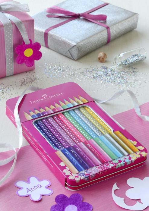 Set 12 Creioane colorate Sparkle Faber-Castell [2]