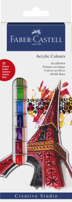 SET CULORI ACRILICE 12 CULORI 12ML Faber-Castell 0