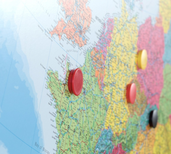 Harta Europa, Skinmap magnetic cu suprafata lacuita 100 x 150 cm Rocada 1