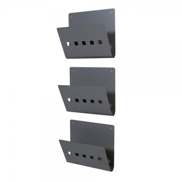 Suport metalic pentru reviste, 2 elemente de prindere pe perete, 3 bucati / cutie 0