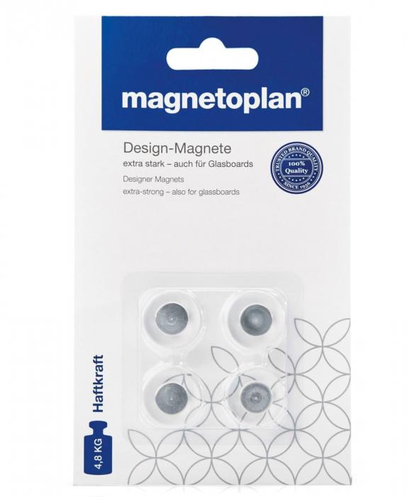 Magneti Briliant Design 20mm pentru Glassboard 4 buc/ set Magnetoplan 0