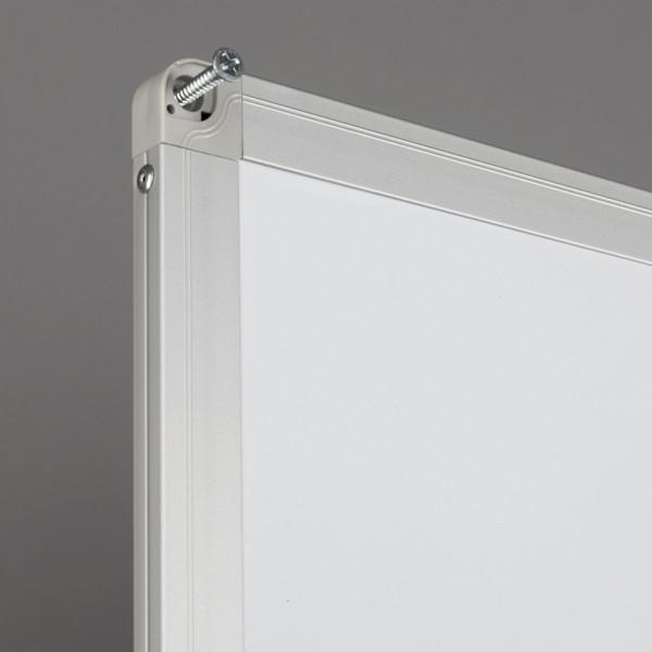 Whiteboard fata dubla cu rama din aluminiu emailat Rocada 2