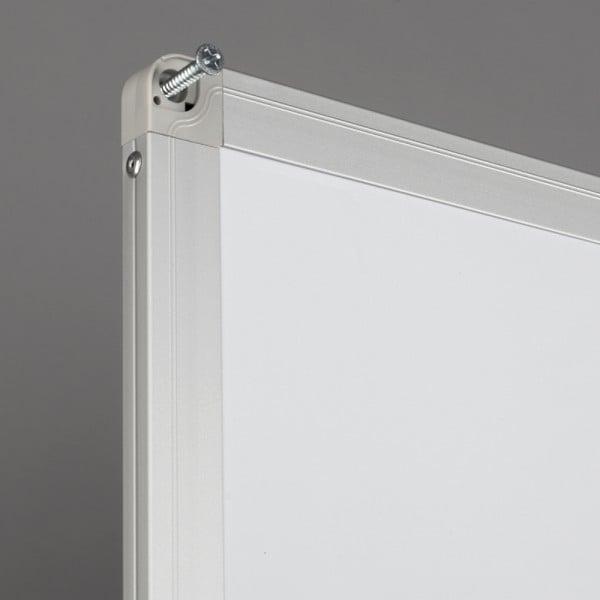 Whiteboard fata dubla cu rama din aluminiu lacuit Rocada 2