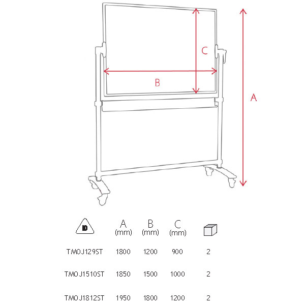 Whiteboard Mobil Magnetic Standard Memoboards [1]