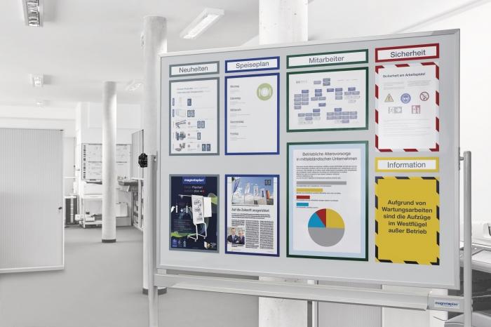 Whiteboard pe stand mobil, SP rotativ 360 gr Magnetoplan (5 variante de marime) 2
