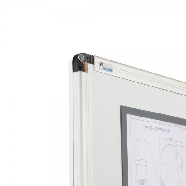 Whiteboard simplu cu rama din aluminiu lacuit Rocada 2