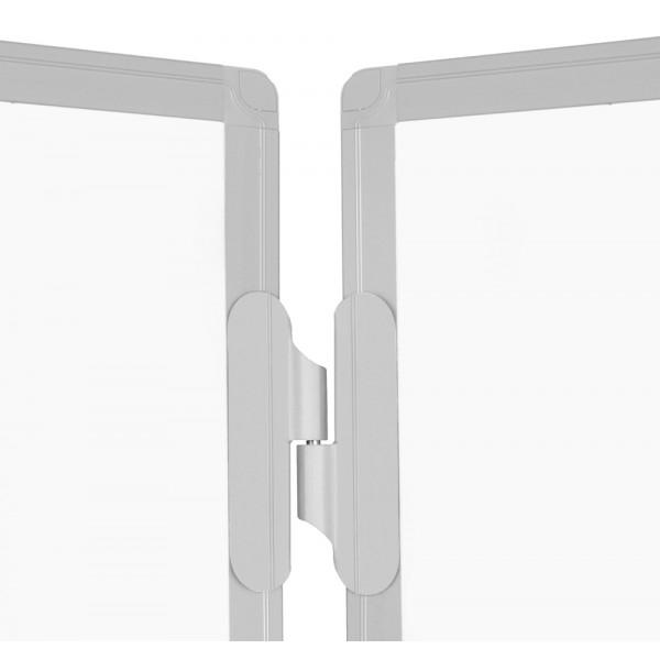 Whiteboard triptic, magnetic cu suprafata emailata 1