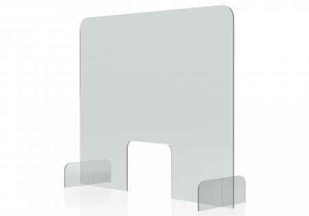 Protectie acryl pentru tejghea, birou 850*700(h) mm Magnetoplan2
