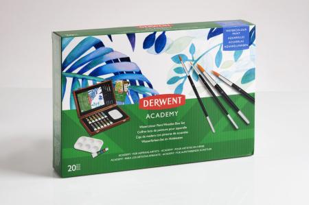 Acuarele 12 Culori x 12 ml, cutie din lemn, 20 buc/set Derwent Academy8