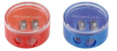 Ascutitoare Plastic Dubla Cu Container Twist Off Rosie/Albastra Faber-Castell [3]