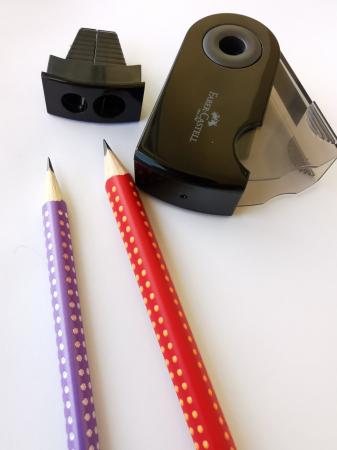 Ascutitoare Plastic Dubla Sleeve negru Faber-Castell2
