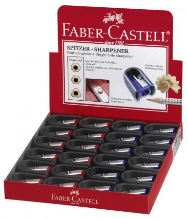 Ascutitoare Plastic Simpla Cu Cauciuc Faber-Castell1