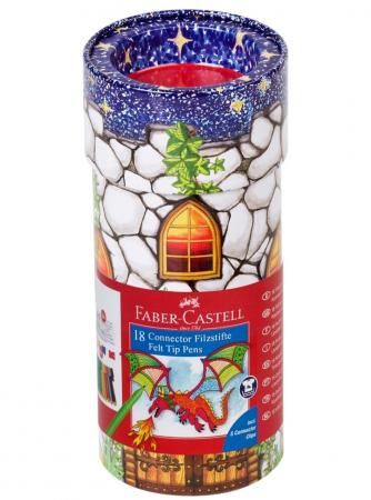 Carioca 18 Culori Castel Connector Faber-Castell0
