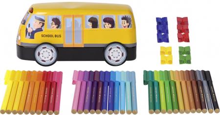 Carioca Connector 33 Culori, Autobuz Scolar Faber-Castell [1]