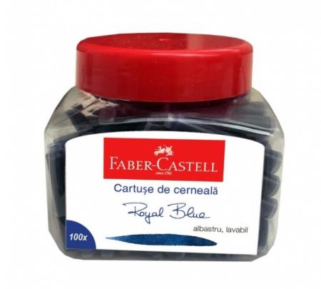 Cartuse Cerneala Mici Faber-Castell Albastru 100 buc/borcan [0]