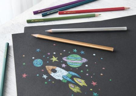 Creioane Colorate 10 Culori Metalizate Faber-Castell [1]