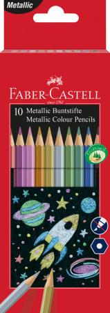 Creioane Colorate 10 Culori Metalizate Faber-Castell [0]