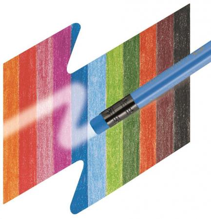 Creioane Colorate 12 Culori Cu Guma Eco Faber-Castell [2]