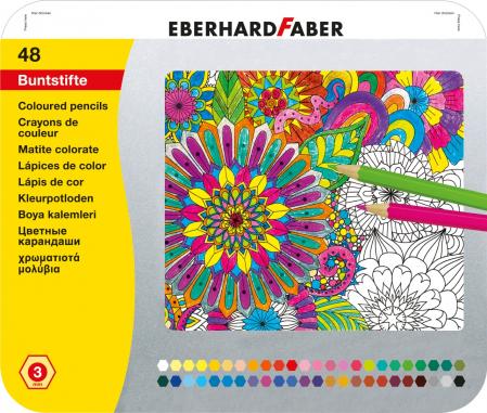 CREIOANE COLORATE 48 CULORI CUTIE METAL EBERHARD FABER0