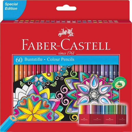 Creioane Colorate 60 Culori Editie Speciala Faber-Castell0