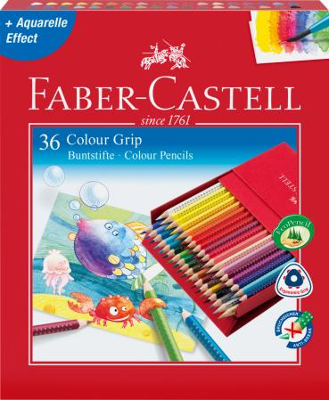 Creioane Colorate Grip 2001 36 Culori Cutie Cadou Faber-Castell1